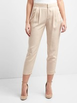 TENCEL pleated ankle trousers