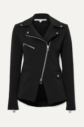 Veronica Beard Hadley Stretch-crepe Biker Jacket - Black