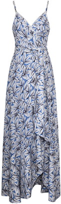 Jonathan Simkhai Ava Floral Faux Wrap Maxi Dress