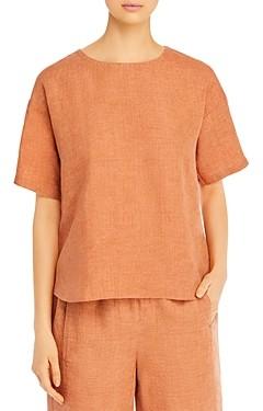 Eileen Fisher Petites Organic Linen Top