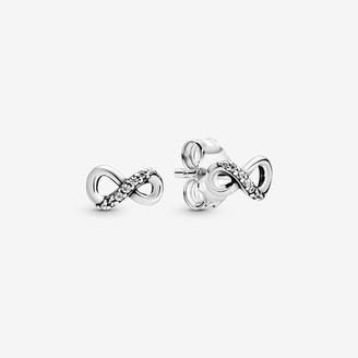 Pandora Sparkling Infinity Stud Earrings