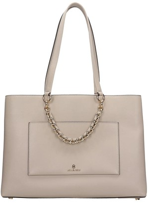 Michael Kors Tote In Beige Leather