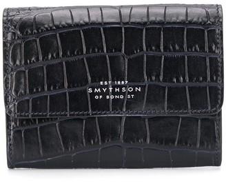 Smythson croc embossed wallet