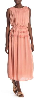 BOHO ME Smocked Waist Cover-Up Midi Dress