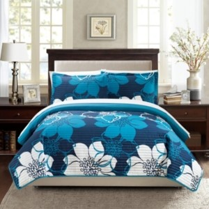 Chic Home Woodside 7 Piece King Bed in a Bag Quilt Set Bedding
