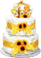 Gender Neutral Burt's Bees Newborn Baby Diaper Cake Gift by Gifts to Impress