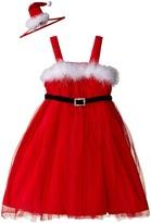 Mud Pie Santa Dress & Headband Set (Infant/Toddler)