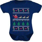 TeeStars - Flying Santa Ugly Christmas Sweater Bodysuit Cute Xmas Baby Onesie 12M