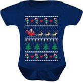 TeeStars - Flying Santa Ugly Christmas Sweater Bodysuit Cute Xmas Baby Onesie 6M