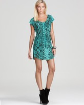 Drawstring Dress - Viper Snake