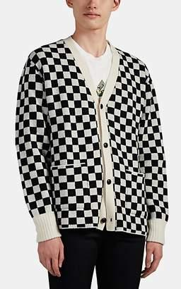 Amiri Men's Checkerboard Jacquard Cashmere Cardigan