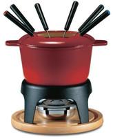 Swissmar & Sierra 11 Pc Fondue Set Cast Iron Red