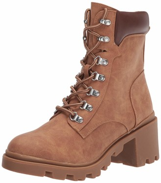 Report Women's lace up Combat Bootie Ankle Boot
