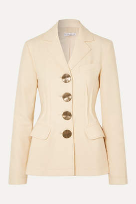 REJINA PYO Etta Button-detailed Wool-twill Blazer - Ivory