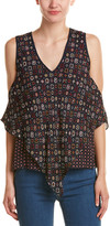 Derek Lam 10 Crosby Silk Handkerchief Tank Top