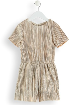 RED WAGON Girl's Metallic Pleated Playsuit