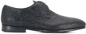 Officine Creative Revien woven derby shoes