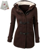Donalworld Womens Winter Outdoor Coat Warm Wool Blended Hooded Jacket
