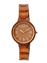 Earth Wood Nodal Olive Bracelet Watch with Date ETHEW2004