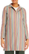 Mantu Stripe Weave Single-Breasted Coat