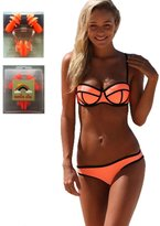 Running Wish Women's Bikini Sexy 2 Pieces Swimsuit Triangl Swimwear Neoprene Set