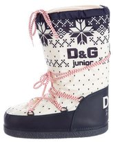 Dolce & Gabbana Girls' Nylon Snow Boots