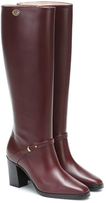 Gucci Double G leather knee-high boots
