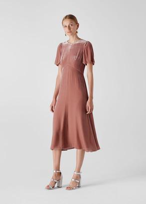 Vilimina Silk Mix Velvet Dress