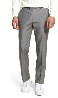 Theory Marlo Flat Front Check Wool Suit Separate Trousers