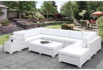 Rosecliff Heights Kuhn 11 Piece Deep Seating Group with Cushions
