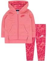 Nike Baby Girl Fleece Hoodie & Geometric Leggings Set