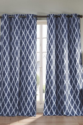 Duck River Textile Kittattinny Heavy Blackout Grommet Panel Curtains - Set of 2 - Indigo
