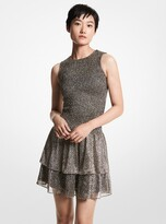Thumbnail for your product : MICHAEL Michael Kors Metallic Jacquard Smocked Dress