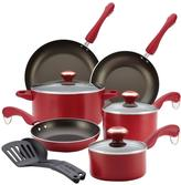 Paula Deen Signature Dishwasher Safe Nonstick 11-Piece Cookware Set in Red