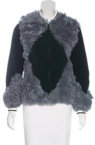 Tory Burch Fur Bomber Jacket