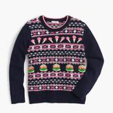 J.Crew Girls' food Fair Isle sweater