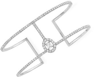 Messika Glam'Azone Skinny 2-Row Diamond & 18K White Gold Cuff