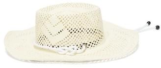 Sensi Calado Straw Boater Hat - Womens - White