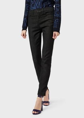 Emporio Armani J20 Super-Skinny, Rinse-Wash Denim Jeans