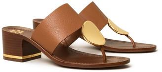 Tory Burch Patos Disk Mid-Heel Sandal