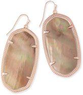 Kendra Scott Danielle Rose Gold Earrings in Brown Pearl