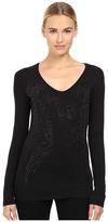 Versace Long Sleeve Sparkles Logo Top Women's Clothing