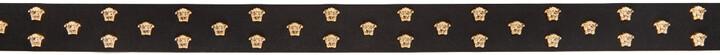 Thumbnail for your product : Versace Black Leather Medusa Stud Belt
