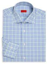 Isaia Checked Regular-Fit Dress Shirt