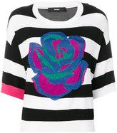 Diesel rose striped T-shirt - women - Viscose - XXS