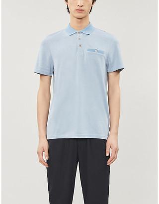 Ted Baker Doller woven pique polo shirt