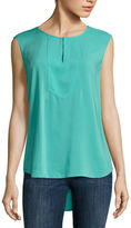 Liz Claiborne Sleeveless Bib Top