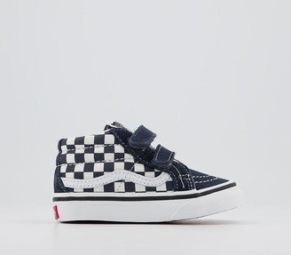 Vans SK8 Mid Reissue V Trainers Checkerboard India Ink True White