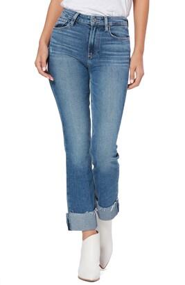 Paige Cindy High Waist Raw Cuffed Straight Leg Jeans