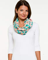 Le Château Floral Jersey Knit Infinity Scarf